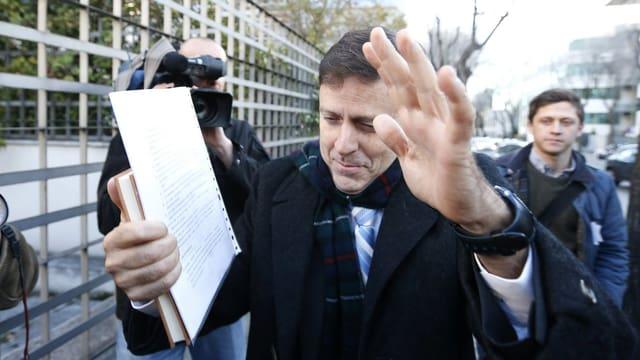 Eufemiano Fuentes auf dem Weg zum Prozess.