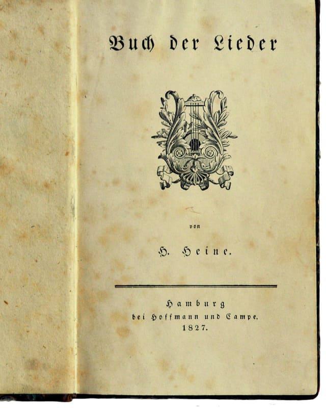 Originalausgabe des Buchs der Lieder von 1827.