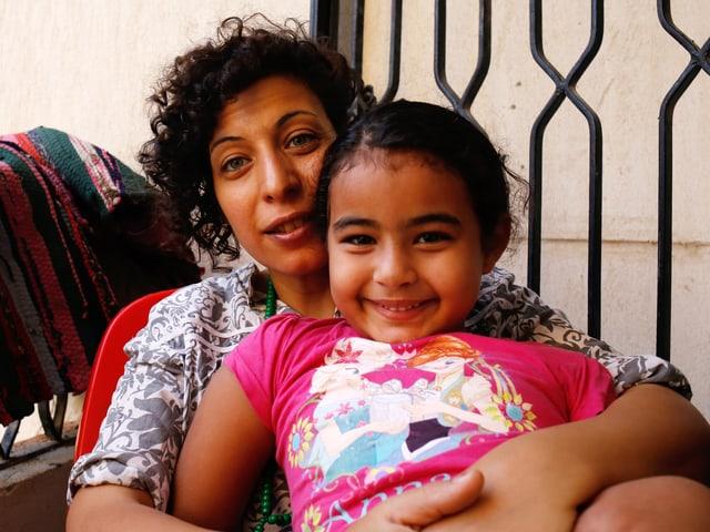 Heba Khalifa mit ihrer Tochter Ward