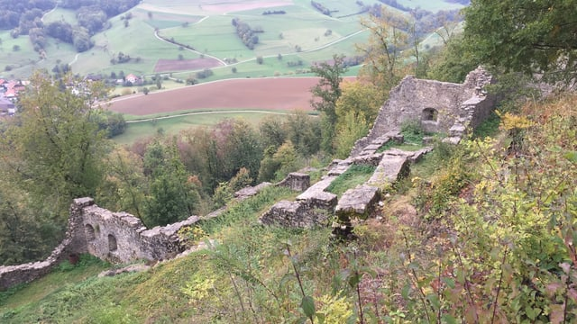 Mauern innerhalb der Burg