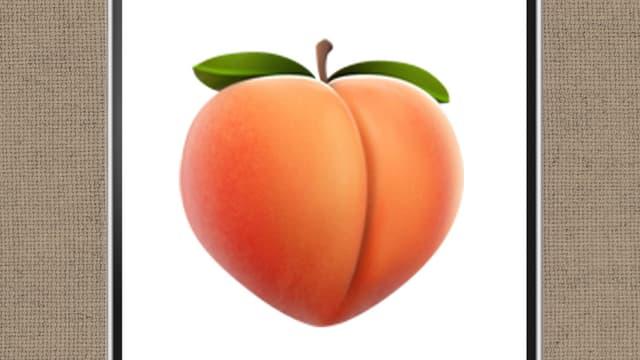 Emoji-Pfirsich