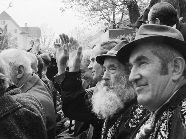 Archivaufnahme von der Lansgemeinde in Sarnen 1982.