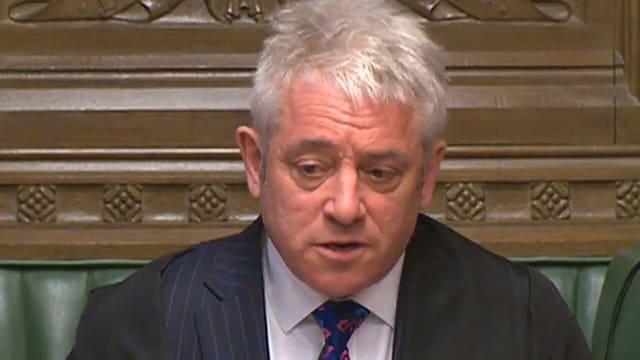 Purtret da Bercow en il parlament britannic.