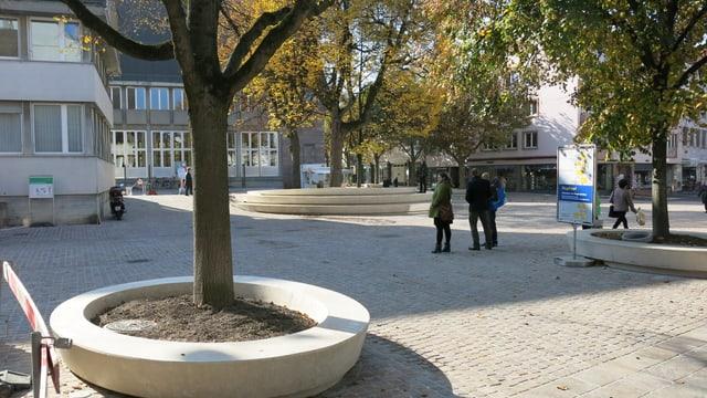 Das Dorfzentrum von Riehen ist neu gestaltet worden.