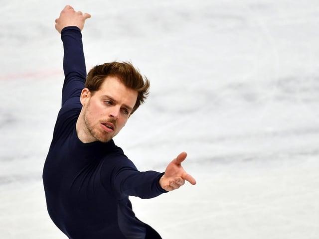 Stéphane Walker auf dem Eis.