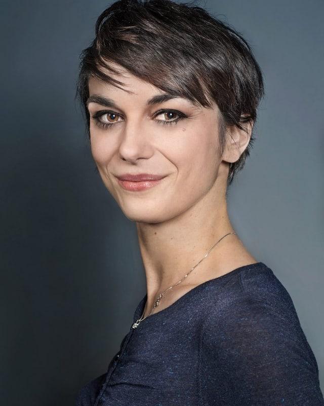 Ein Porträt von Andrea Bleicher.