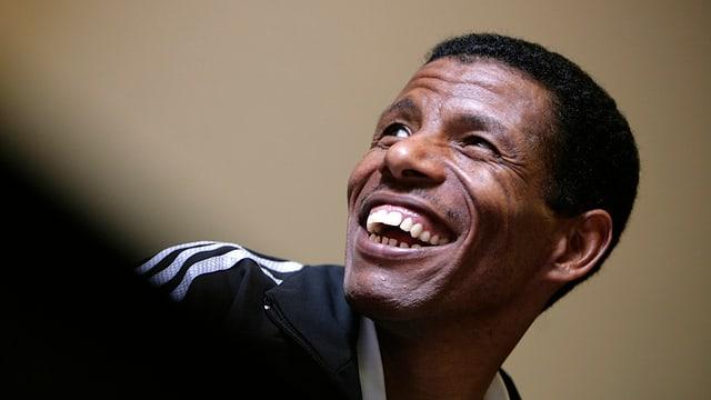Der 39jährige äthiopische Spitzenläufer Haile Gebrselassie startet am Grand Prix von Bern.