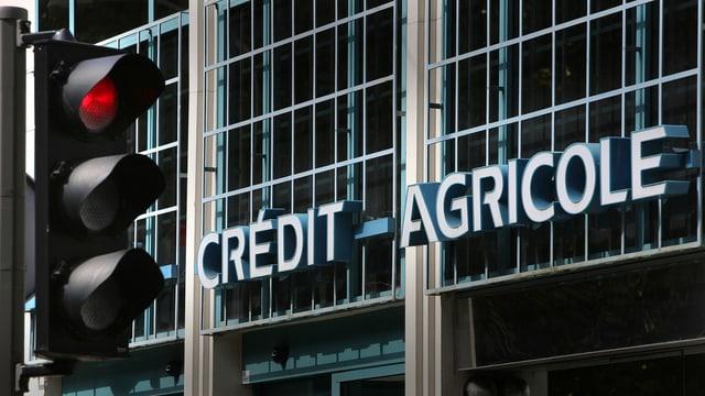 Fassade der Bank Credit Agricole