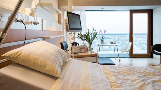 Dieses Jahr wurde die neue Bettenstation im Triemli-Spital in Zürich eröffnet. Weitere neue Spitalbetten sind geplant.