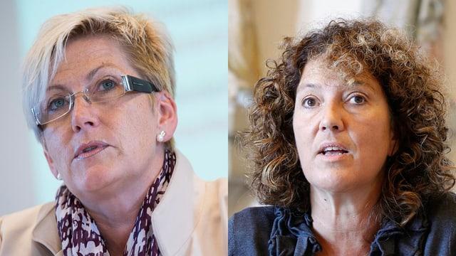 Porträt der beiden Berner Regierungsrätinnen Beatrice Simon (BDP) und Barbara Egger-Jenzer (SP).