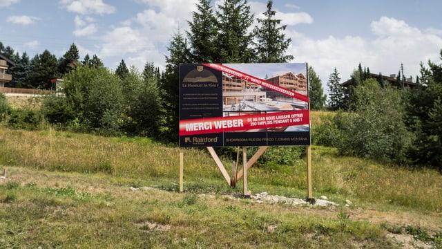 Kritik an Zweitwohnungsinitiative im Wallis im August 2013.