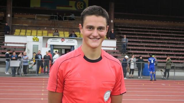 Gian Feller im Stadion Bern-Neufeld