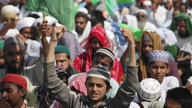 Protestan ad Islamabad (Pakistan).
