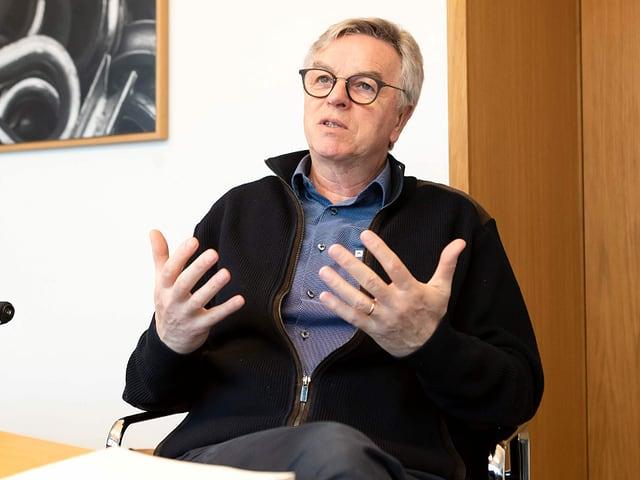 SCL-Tigers-Präsident Peter Jakob.