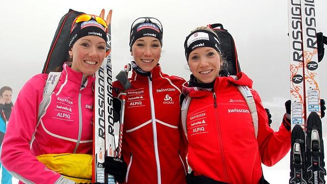 Die Gasparin-Schwestern werden die Schweiz in Sotschi im Biathlon vertreten.