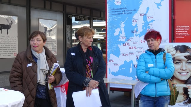 Las organisaturas dal program accumpagnant Silvia Hofmann, Cathrin Räber-Schleiss ed Annetta Simeon.