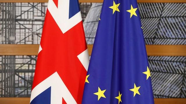 Fahnen Europas und Grossbritanniens