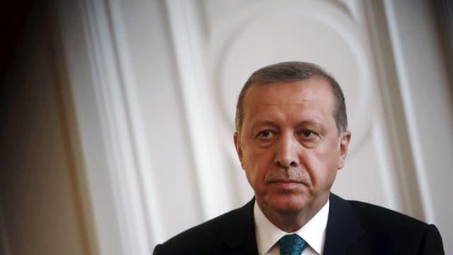 Aufnahme von Erdogan, Kopf und Schultern.