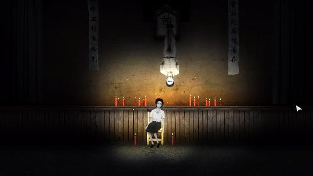 Wei Zhongting hängt wie der Gehängte von der Decke, ein Zitat einer Tarot-Karte.