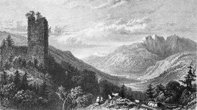 Munt S. Gieri e vista envers Glion (gravura)