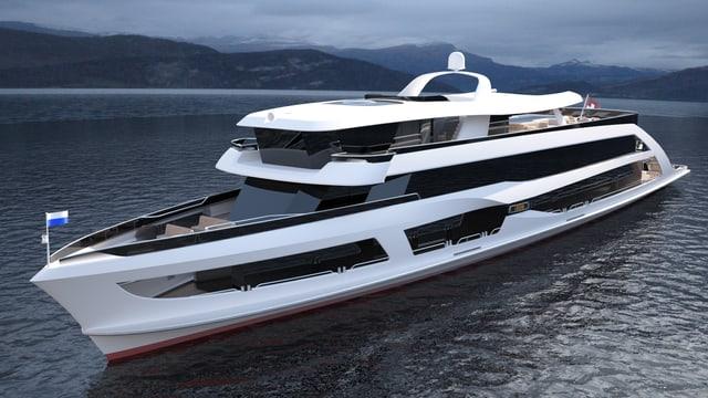 Neues Schiff auf dem See