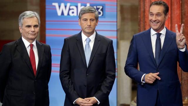 Werner Faymann, Michael Spindelegger und Heinz Christian Strache (von links)