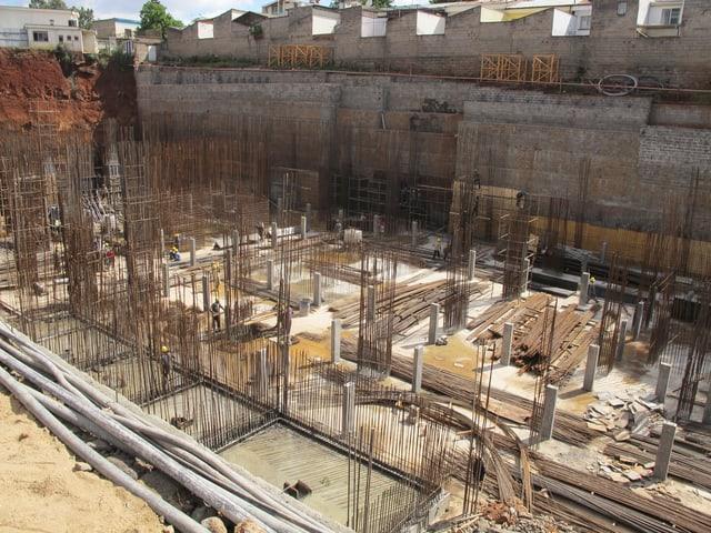 Blick auf die Baustelle von Le' Mac