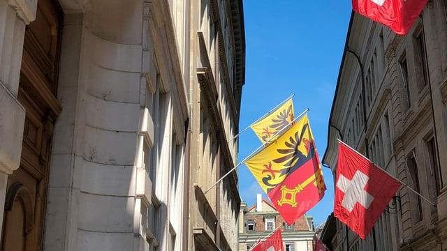 Die Genfer Innenstadt am Montag