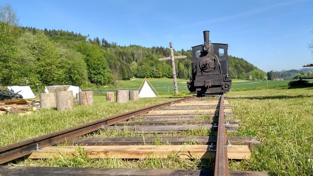 Nachgebauter alter Zug