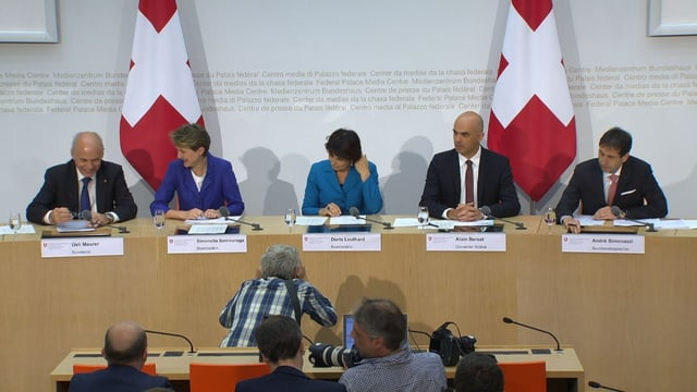 Medienkonferenz des Bundesrats.