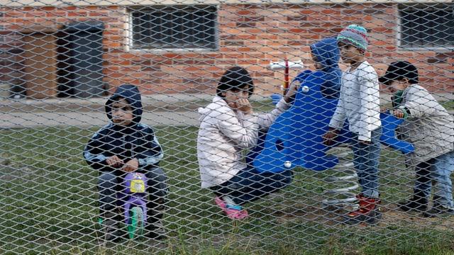 Kinder in einer tschechischen Flüchtlingseinrichtung.