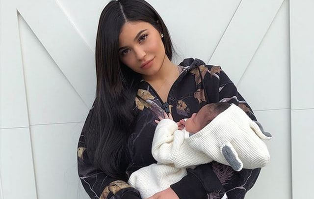 Kylie mit Stormi