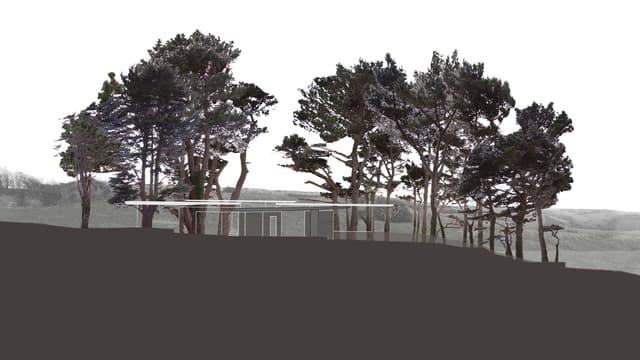 Computerbild des Architekturprojekts «Secular Retreat».