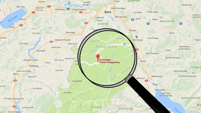 Klosterruine Rüeggisberg, Karte