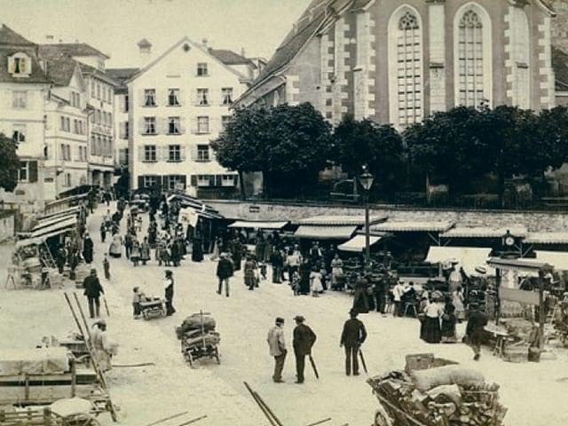 Der Obstmarkt um 1890