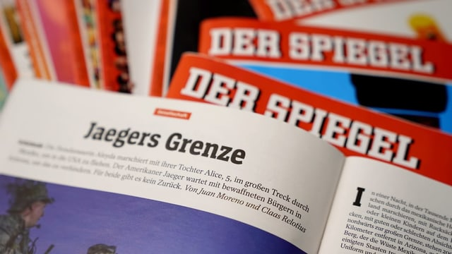 Purtret dal magazin «Spiegel» cun avert si in artitgel che Relotius ha scrit.