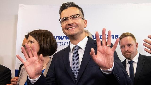Marjan Sarec freut sich über sein Resultat