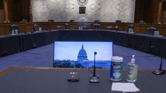 Sitzungszimmer im US-Parlament.