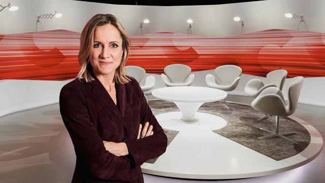 Barbara Lüthi vor leerem «Club»-Studio