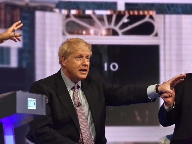 Boris Johnson an der Fernseh-Debatte