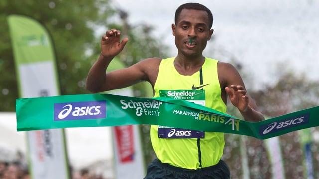 Kenenisa Bekele am Paris-Marathon.