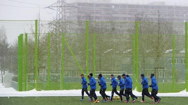 FCZ Spieler beim Training im Heerenschürli.