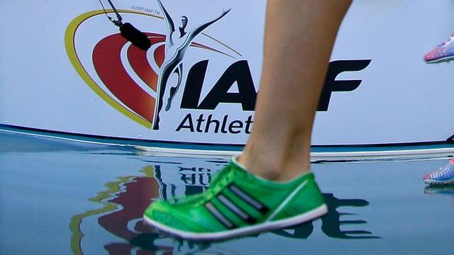 Bein eines Läufers
