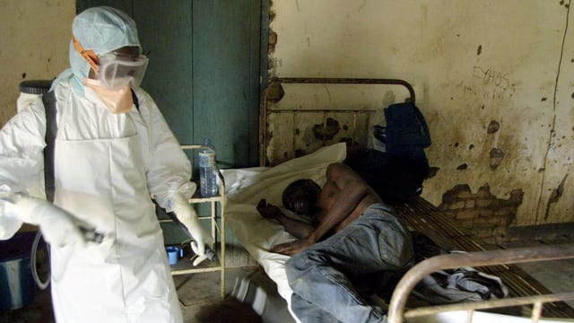 Ebola-Kranke im Kongo.
