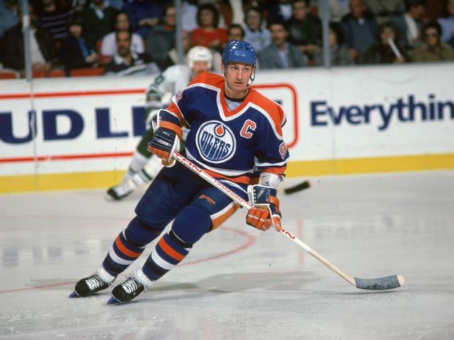 Wayne Gretzky im Dress der Oilers 1986.