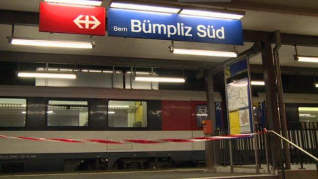 Der abgesperrte Bahnhpf Bümpliz Süd.