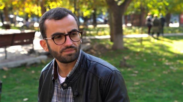 Der armenische Geiger Hayk_Makijan in der armenischen Hauptstadt Jerewan.