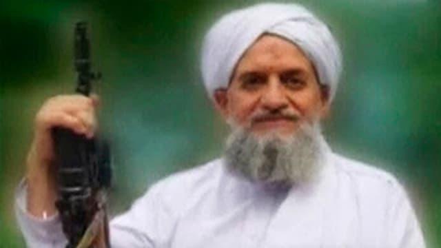 Porträt von Eiman al-Sawahiri aus einem Video, dass im September 2011 ausgestrahlt wurde.