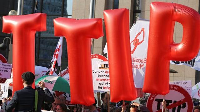 Demonstraziun cunter TTIP en Belgia