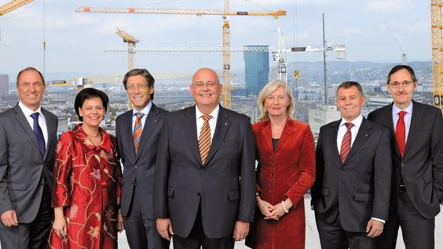 Gruppenbild des Zürcher Regierungsrates